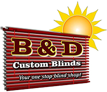 B & D Custom Blinds Logo
